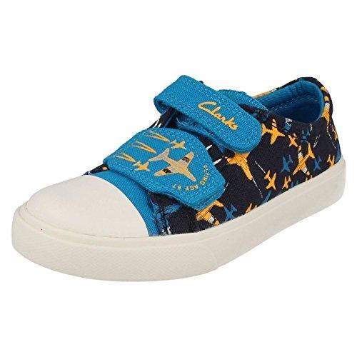 Clarks Kids Tricer Jet Inf - Zapatilla baja Niños azul marino (Navy Combi)