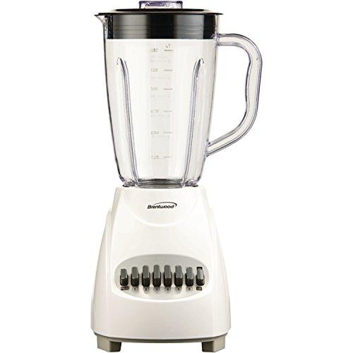 Brentwood -  12 Speed Blender Plastic Jar - 350 W - White