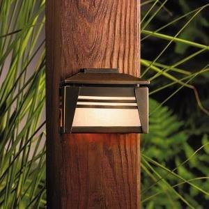 - Kichler Lighting 15110OZ Zen Garden Deck Light 12-Volt Deck and Patio Light, Olde Bronze with Textured Linen Seedy Glass by Kichler Lighting