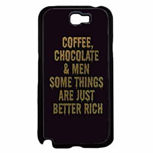 Chocolate Coffee and Men TPU RUBBER SILICONE Phone Case Back Cover Samsung Galaxy Note II 2 N7100