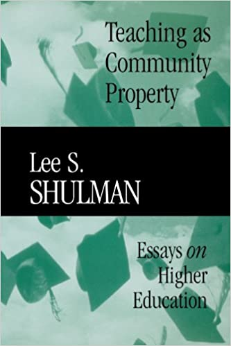 teaching as community property essays on higher education  teaching as community property essays on higher education 9780470623084 economics books com