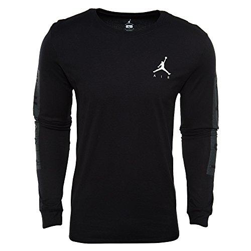 Nike Mens Air Jordan Cement Print Long Sleeve T-Shirt Black/Anthracite AA3268-010 Size X-Large