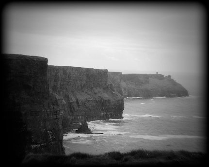Cliffs of moher ireland black and white print iebw9968 20x30