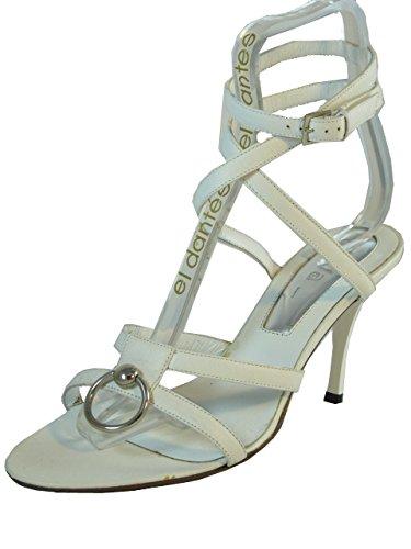 2de713689496 Dyva Designer 19950 Women s Italian Leather Strapy Mid Heel Sandal