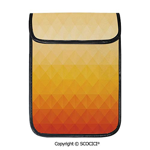 (SCOCICI Protective Storage Carrying Sleeve Case - Triangle Geometric Mosaic Gradient Shades of Orange Poly Art Decorative Compatible with 12.9 Inch iPad Pro Tablet)