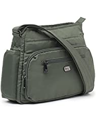 Lug Shimmy Cross-Body Bag, Olive Green