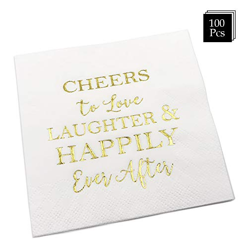 Wedding Napkins Love Laughter and Happily Ever After Bridal Shower Napkins 100 Count