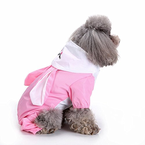 - S-Lifeeing Fshion Puppy Pet Dog Raincoat For Small And Medium Dogs Waterproof Clothing For Rainy Days Hooded Rainwear Candy Cute Animal Dog Raincoat Poncho