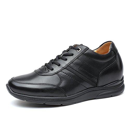 CHAMARIPA Chaussure elevante pour loisir et relaxation Chaussure rehaussante a lacet pour homme - plus grand de 6cm