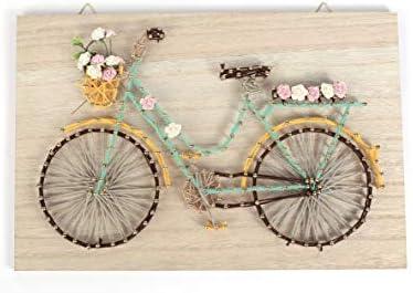 Kit cuadro de madera String Art 30 x 20 cm - Bicicleta: Amazon.es: Hogar