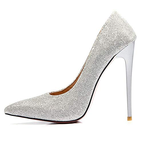 Zapatos Formal Colors Slip Tacon Silver Mujer On Zanpa Mesh 7 tvfwFxq5nH