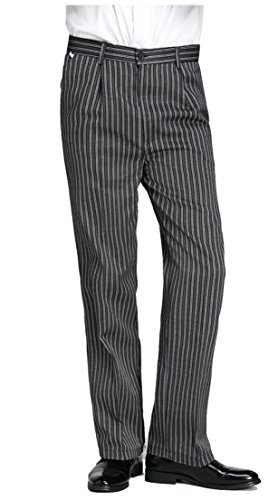 Generic Men's Casual Baggy Chalk Stripe Chef Pants 1 36