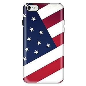 StylizeddApple iPhone 6/6s Premium Dual Layer Tough Case Cover Matte Finish - Flag of US