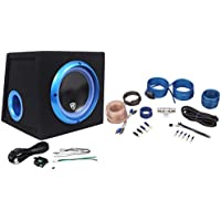 Rockville RVB8.1A 8 300W Powered Amplified Car Subwoofer System+Remote+Wire Kit