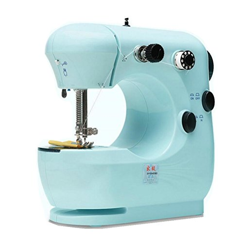 OMIU Multifunction Pink Electric Home Desktop Sewing Machine Handwork US Plug 9W (blue)