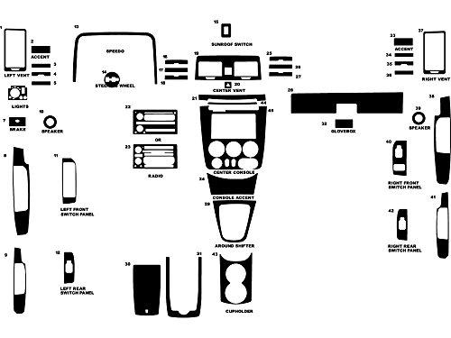 Rdash Dash Kit Decal Trim for Hummer H3 2006-2010 - Matte Chrome (Hummer Chrome Kit)