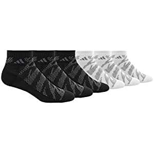 adidas Boys/Youth Tiger Style Cushioned Quarter Socks (6 Pack)