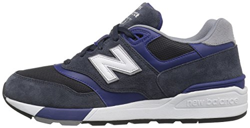 uk availability 12cd8 5fa46 New Balance Men's ML597 Classic Running Fashion Sneaker, Navy/Teal, 9.5 D US