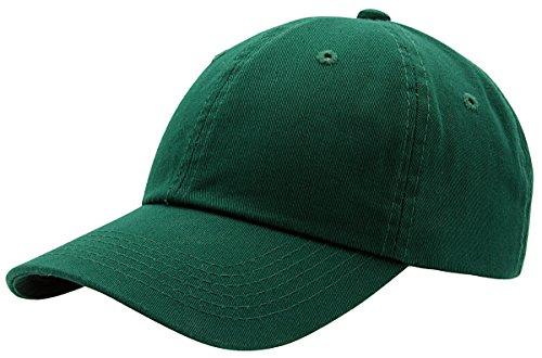 (AZTRONA Baseball Cap for Men Women - 100% Cotton Classic Dad Hat, DGN Dark Green)