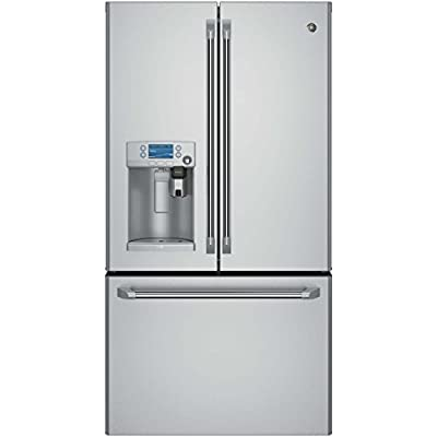 G.E. CYE22USHSS Caf CYE22USHSS 22.2 Cu. Ft. Stainless Counter-Depth French Door Refrigerator with Keurig