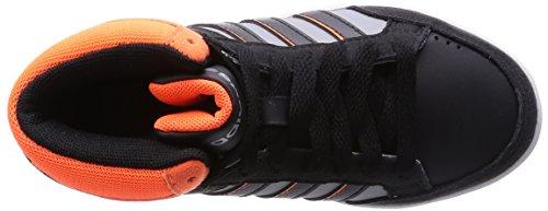adidas NEO Hoops Team Mid - Zapatillas altas infantil Clear Onix/Core Black/Solar Orange