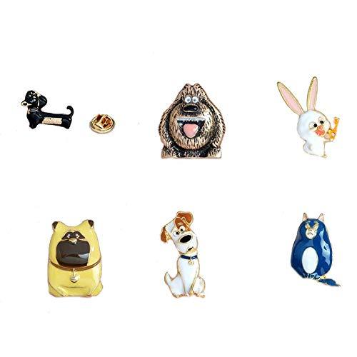 Mall of Style Secret Life of Pets - Cute Kids Unisex Brooch Pins (Pets)