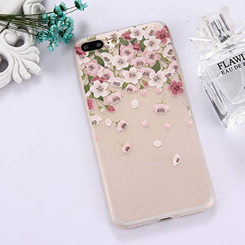QGT for iPhone 8 Plus & 7 Plus TPU Frosted Embossed Watermelon Pattern Protective Case Back Cover (Color : Color12)
