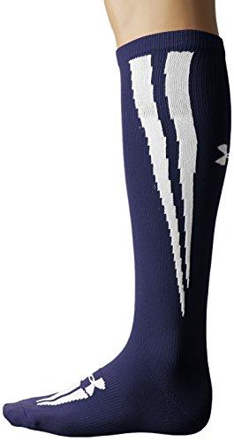 Under Armour Men's Ignite Soccer Over-the-Calf Socks (1 Pair), Navy/White, X-Large