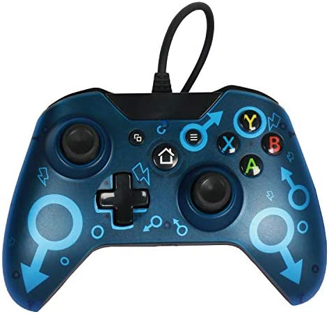 Semoic USB有線ゲームパッドジョイスティックジョイパッドハンドル One / PC ONE SLIM X用(ブルー)