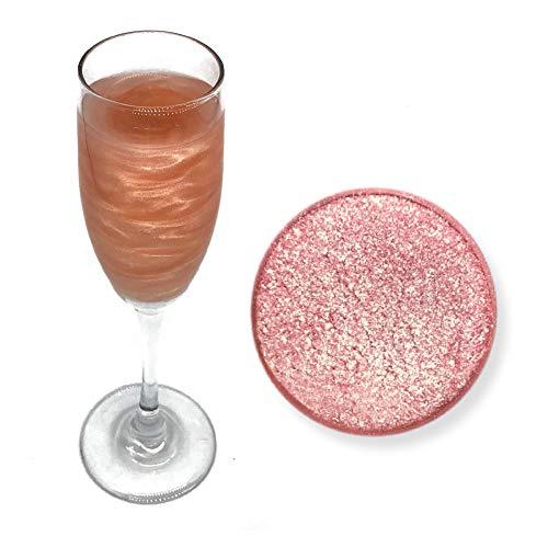 Rose Gold Beer & Beverage Glitter | 4 Gram Jar | Edible Food Grade Beer Glitter, Cocktail Glitter & Beverage Glitter from Bakell ()