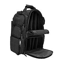 Backpack + Range Bag with Large Padded Deluxe Tactical Divider and 9 Clip Mag Holder - Rangemaster Gear Bag Explorer