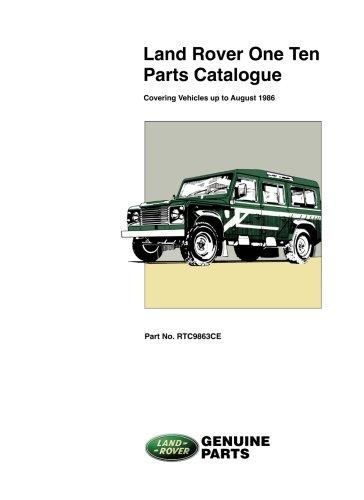 Land Rover 110 Parts Catalog To 1986 (Land Rover Parts Catalogue S.)