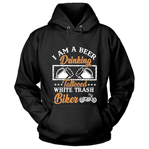 I Am A Beer Drinking Hoodies, Tattooed White