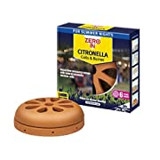 The Buzz Citronella Burner and 6 Coil Pack (Discreet and Decorative Terracotta Burner, Each Coil Burns for Over 5 Hours)