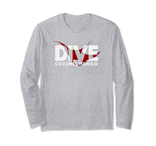 DIVE Cozumel Mexico SCUBA DIVING Diver Manta Ray Long Sleeve T-Shirt