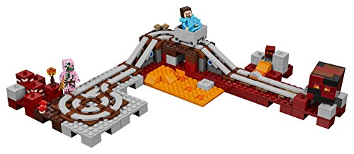 41fknhcdhlL - LEGO Minecraft The Nether Railway 21130