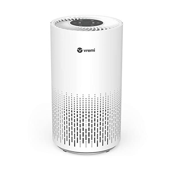 Vremi Air Purifier with True HEPA Filter – for Medium to Large Rooms up to 300 Sq Ft – 3 Stage Filtration Odor Eliminator for Allergies Pollen Smoke Dust or Pets Dander – Quiet with Night Light