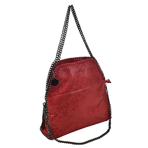 Femmes Tote Sac Rouge Chaîne Couture Diva Large Haute For Argent UEwqxf1W1S
