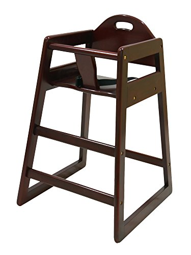 LA Baby Restaurant Style Stack-able Wood High Chair - Cherry