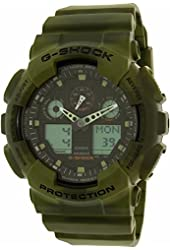 Casio G-Shock Black Dial Resin Quartz Men's Watch GA100MM-3A