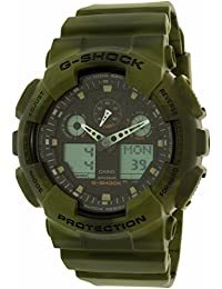 Casio Men's G-Shock GA100MM-3A Green Rubber Quartz Watch