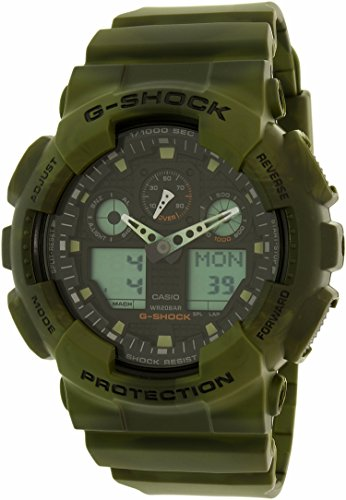 Casio G Shock Black Quartz GA100MM 3A