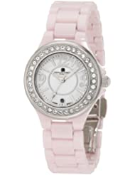 Charles-Hubert, Paris Womens 6777-P Premium Collection Pink Ceramic Watch