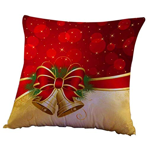 Pillow Case - Christmas Throw Pillow Case Covers Waist Cushion With Zipper Decorative Linen Home Square 45 X 45cm - Xlarge Sunshine Stamped Count Outdoor Lounger Variety Elegant Blanket -