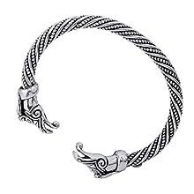 Norse Viking Dragon Head Metal Bracelet