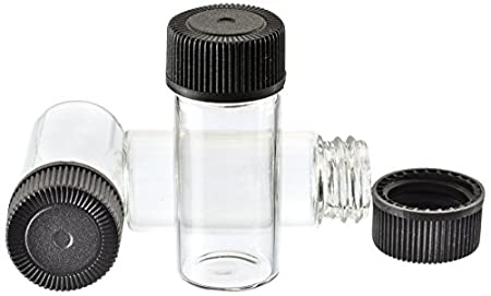 SE GB3 Glass Vials with 1-3/4' x 9/16' Diameter (Pack of 144), Clear Sona Enterprises