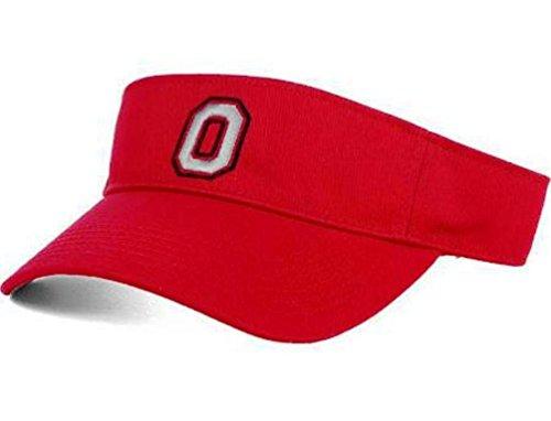 J.America Ohio State Buckeyes Block O Visor (Red)