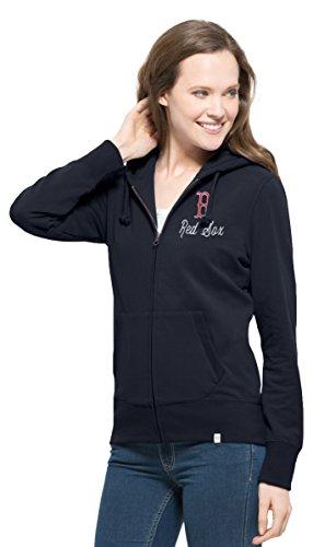 MLB Boston Red Sox Women's 47 Cross Check Full-Zip Pullover Jacket, Medium, Fall (Sox Womens Jackets)