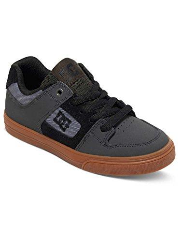 DC PURE KIDS SHOE 301069B, Unisex-Kinder Skateboardschuhe Grey/Black