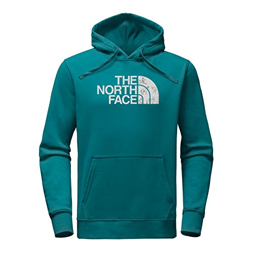The North Face Men's Half Dome Hoodie - Blue Coral & High Rise Grey Coyotes Print - L by The North Face